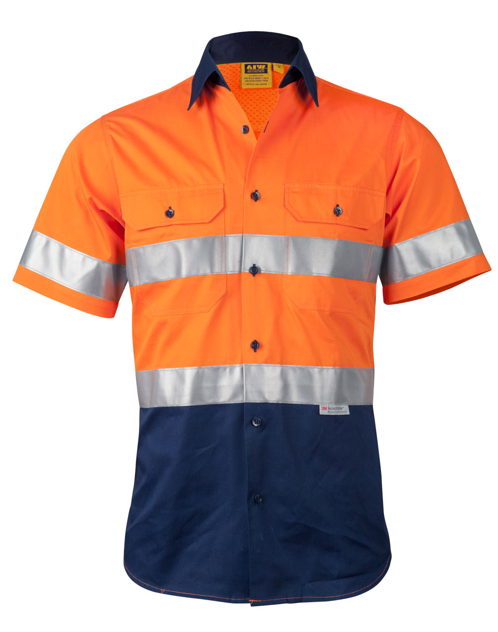 Security & Protection Orange Work Reflective Jacket Safety Mesh Vest With 3m Tape Fancy Colours Workplace Safety Supplies